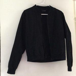 Brandy Melville Black Bomber Jacket